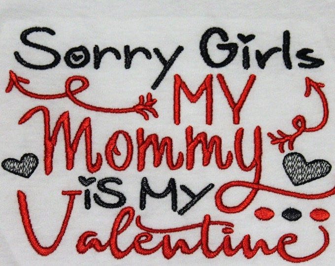 Boys Valentine shirt, boy Valentine's Day shirt,Mommy is my Valentine,Heart shirt,Red and black long sleeve shirt, Valentine's Day party