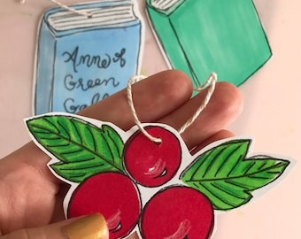 Holiday ornament cut outs
