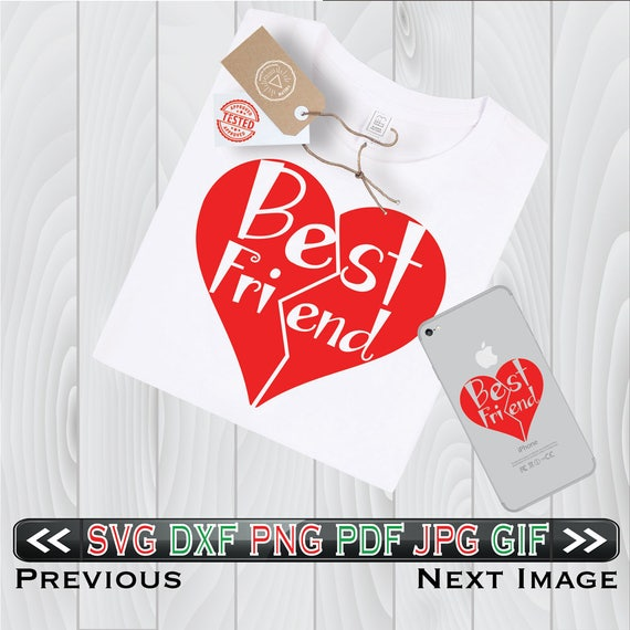 Valentine Quotes For My Best Friend: Best Friends SVG Files Valentines Day DXF BFF Heart Design