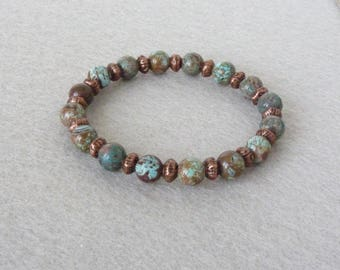 Boho Bracelet, Turquoise Bracelet, Native American Bracelet, Southwestern Jewelry, Agate Bracelet, Stone Bracelet, Women Bracelet