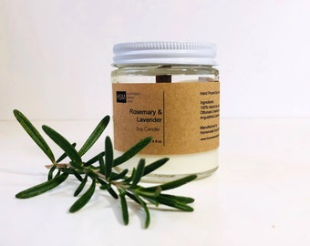 Lavender & Rosemary Soy Candle, Mothers day gifts, Birthday gift, Vegan Candles, Teacher gifts, Gift for her, Gift for mom, candle gifts