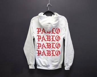 Yeezus Paris Pablo Pablo Pablo Pablo WHITE Hoodie - Paris Pop Up Shop - I Feel Like Pablo - Yeezy