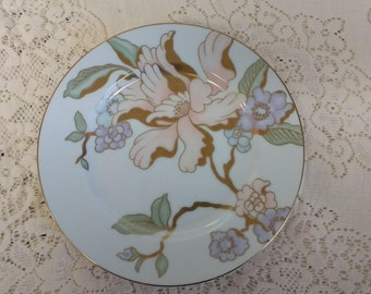 "Fitz and Floyd ""Fantaisie Florale"" 7 1/2"" Porcelain Salad Plate"