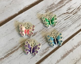 Butterfly Charms, Colorful Charms, Charm Bracelet, Butterflies