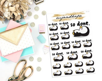 So Done - Penelope Penguin | TT15 | Teeny Tiny Planner Stickers