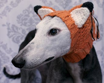 Pointy Fox Hat for Greyhounds