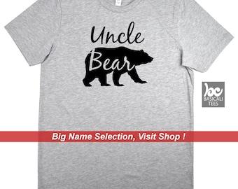 Uncle Shirt - UNCLE BEAR SHIRT - Gift for Uncles,Gift from Kids,Gift for him,Father,Bear Shirt Series,Dad Shirt,Brother Shirt,Cousin Shirt