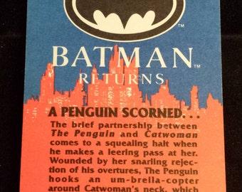 """Vintage 1992 Topps Batman Returns Trading Card, """"A Penguin Scorned..."""" #59"""