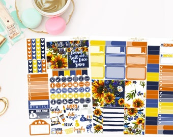 Sunflower Personal Kit,  planner stickers
