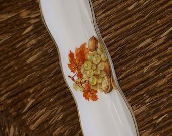Vintage Oakley China LTD/Olive Server/ Narrow Pin Dish/ Fruit and Nut Design