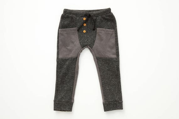 SAUGE - knit jogging pant, skinny fit for kids: boys and girls - grey