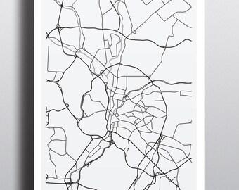 Minimalist Map - Kuala Lumpur
