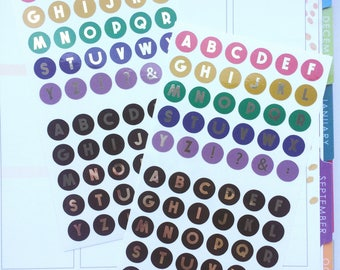 Foil Alphabet Stickers, Letter Stickers, Foil Stickers, Alphabet Letters,Planner Stickers, Alphabet Planner
