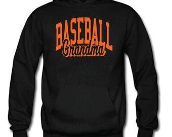 Baseball Hoodie, Baseball Grandma Sweatshirt, Sports Hoodie, Custom Sports Apparel, Baseball Gear