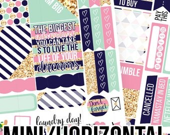 POPco Signature Collections Mini/Horizontal Kit - Planner Stickers