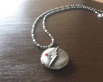 The Flash Gunmetal Silver Locket