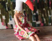 Swan animal head art doll...