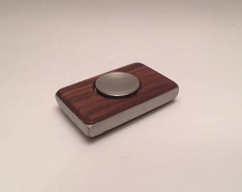 Stainless Steel Fidget Spinner in Bolivian Rosewood