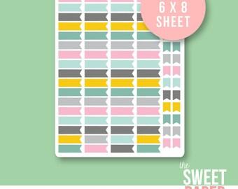 Flag Planner Stickers | City Girl