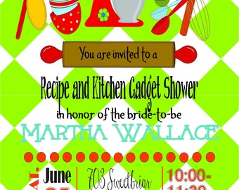 Kitchen Gadget Bridal Shower Invitation