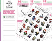 Munchkins -  Superhero Characters Cosplay Planner Stickers (M396)