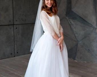 SWEET | Veil, wedding veil, veil wedding, fingertip veil, bridal veil, ivory veil