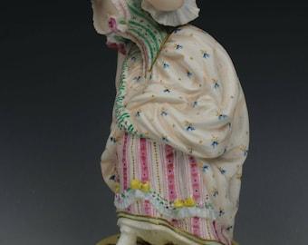 "19C Vion & Baury figurine ""Lady with Mask"""