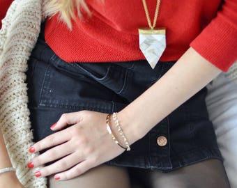 Pearl arrowhead necklace