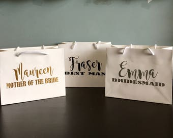 Personalised Bridesmaid / Best Man/ Mother of the Bride Gift Bag