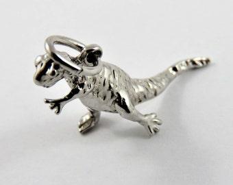 Dinosaur Sterling Silver Charm of Pendant.