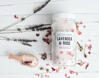 Bath Salt Soak - Lavender Rose // Healing Bath Salths // Lavender Bath Salts // Herb Infused Bath Salts