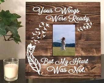 Memorial picture frame - bereavement gift - sympathy gift - wedding memorial frame - in memory of - memorial picture frame- heaven