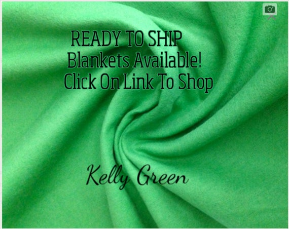 Solid Color, Weighted Blanket, Kelly Green, Up to Twin Size 3 to 15 Pounds.  SPD, Autism, Weighted Blanket.