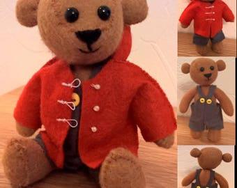 Felt teddy bear - 'Jamie'