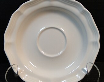 "Mikasa French Countryside Saucer 6 1/4"" White F9000 EXCELLENT!"