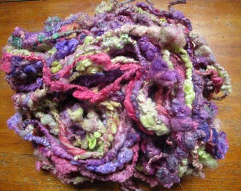"""Wool spun and dyed by hand at the spinning wheel """"cape of silk"""""""