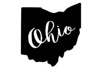 Ohio Decal - State Yeti Decal - Ohio Car Decal - Home Decal - Ohio Sticker - Ohio State Decal
