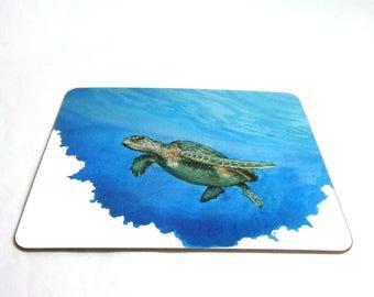 Turtle placemat original artwork watercolour