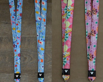 Alice in Wonderland and Cheshire Cat Disney Lanyards