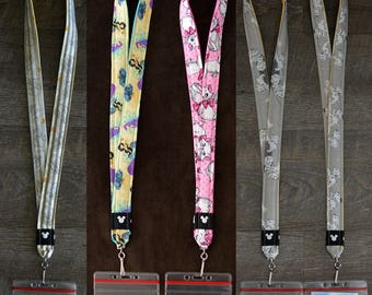 Dumbo, Princess Jasmine, Marie Cat, and 101 Dalmations Disney Lanyards