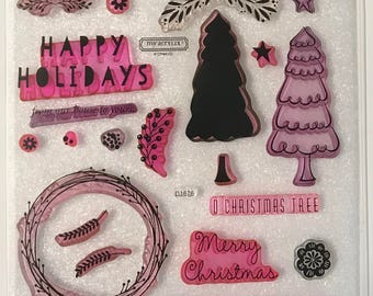 D1676 / White Pines / Stamp Set / Close To My Heart / CTMH / Acrylic Stamp Set / Clear Stamp Set / Cardmaking Workshop / Happy Holidays