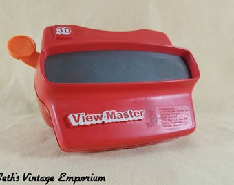 80's Toy ~ 3D View Master ~ RED ~ Stereoscope ~ Viewfinders ~ Retro Toy ~ Father's Day Gift ~ Slide Viewer ~ Seths Vintage Emporium