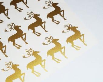 Reindeer stickers   Etsy