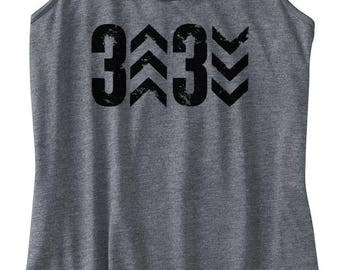 ORIGINAL Women's 3up 3down Baseball Printed Tank, Baseball Design, Racerback Tank, Women's Baseball Shirt, Printed Tanktop, Baseball Tank