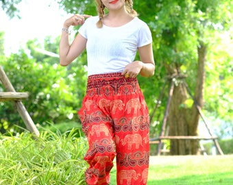 Hippie pants harem pants elephant pants boho pants red