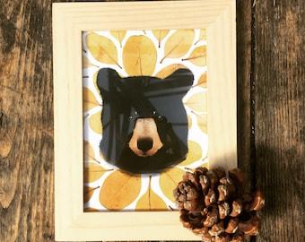 Woodland bear illustration, print, gift