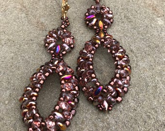 Bronze Super duo Earrings