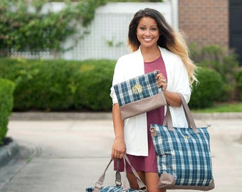 Middleton Plaid Collection   Weekender   Shoulder Bag   Zip Pouch   Monogram Travel Bags and Accessories