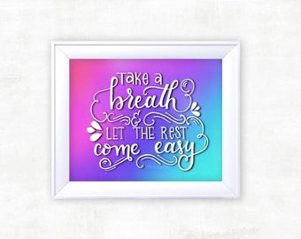 ALL TIME LOW Ombre Lyric Print | Inspirational Quote | Calligraphy Print | Home Decor