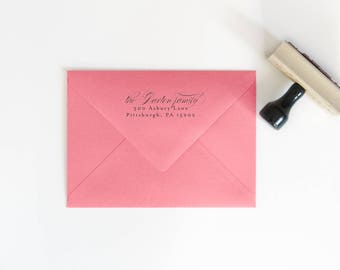 Personalized Stamp - Housewarming Stamp Gift - Custom Rubber Stamp - Return Address Stamp - Christmas Gifts - Gift for Her - RSVP Stamp